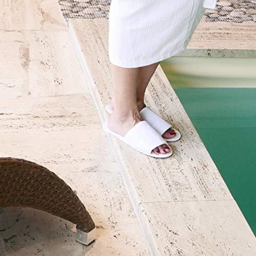 Blanc Pantoufles 10 blanc Hotel Zollner 001 Taille Unique Paires SpqEwOY