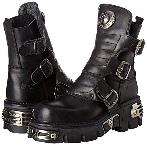 Adulto s1 Estilo Rock New Motero Botas M black 001 Negro 1482x Unisex ZASwf8q
