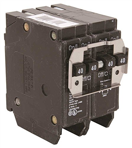 - Eaton BQ240240 Bq Quad Breaker Two 2 Pole 40A It, 1