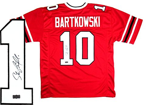 Steve Bartkowski Signed Jersey - Throwback Custom Red - Autographed NFL Jerseys