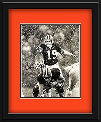 Bernie Kosar Autographed Cleveland Browns Photograph - Certified Authentic includes mat and frame