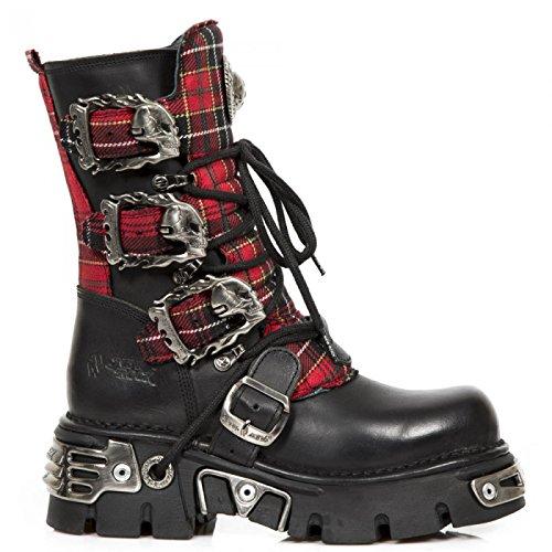 New Rock Støvler M.391t-s1 Gotisk Hardrock Punk Unisex Stiefel Sort y57lIB04n