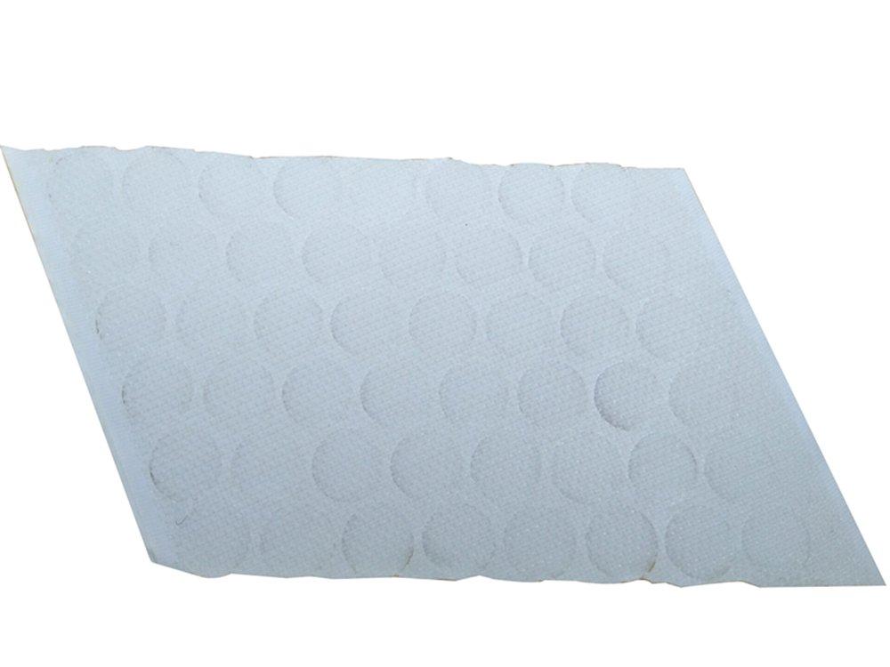 Ecloud Shop 50 Set Gran Capacidad Adhesiva Hook Loop Blanco Dots