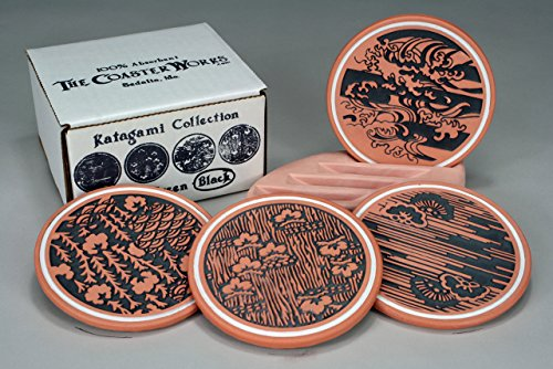 The Coaster Works: 100% Absorbent Coasters -- Katagami 100 Traditional Furniture