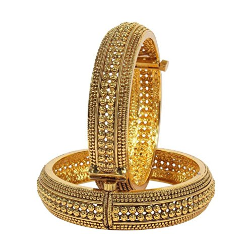 Traditional Womens Bracelets (YouBella Ethnic Bollywood Gold Plated Traditional Bracelets Bangles Jewellery for Women and Girls (5.7))