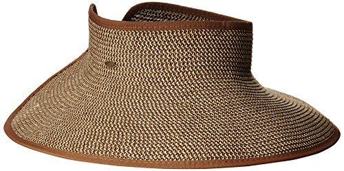 - Scala Women's Packable Paper Braid Visor, Brown/Natural, One Size