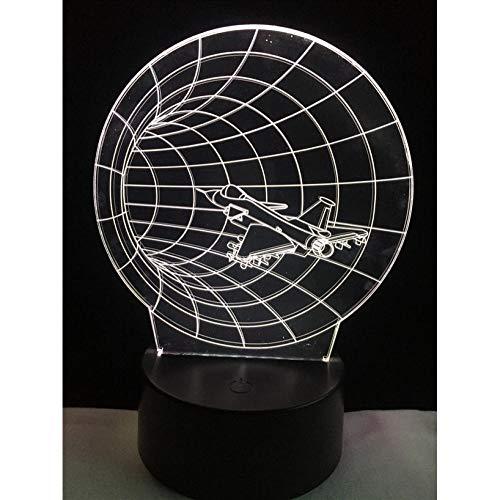 Dekor lampen flugzeug shuttler universum 3d lampe kid toy home dekorative beleuchtung led birne usb schlafzimmer…
