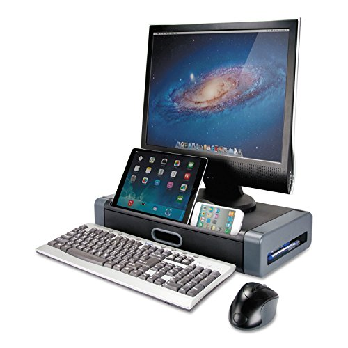 Riser Drawer (Kantek Monitor Riser with Drawer & Smartphone/Tablet Slot, 19