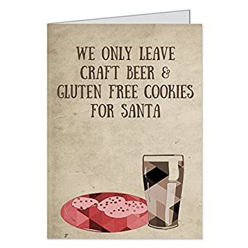 Amazon hipster christmas cards holiday gluten free cookies hipster christmas cards holiday gluten free cookies beer santa ironic m4hsunfo
