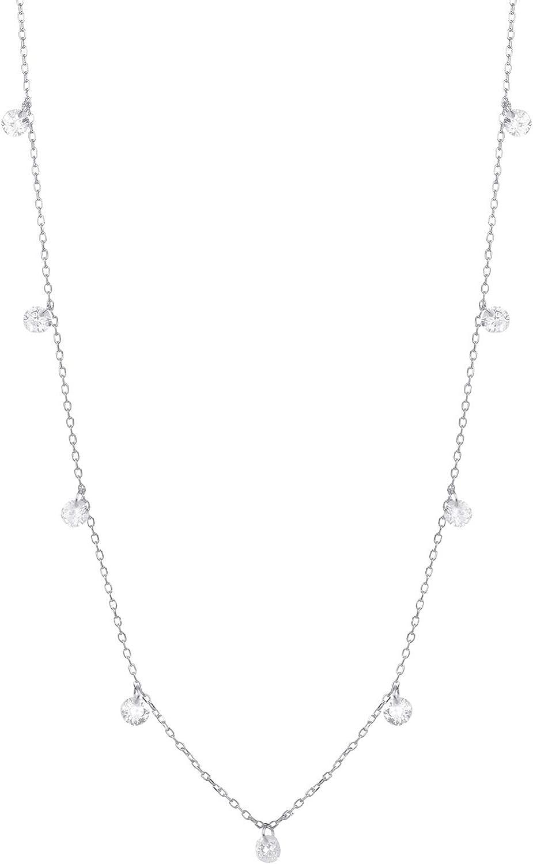 LUXENTER Collar Seducción en Plata y circonita