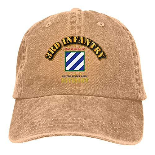 3rd Infantry Division Rock of The Marne Adjustable Sport Jeans Baseball Golf Cap Hat Unisex Style