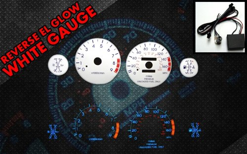 Brand New White Face Blue Indigo Reverse Glow Gauges For 95-99 Eclipse Turbo 2.0 (I-371)