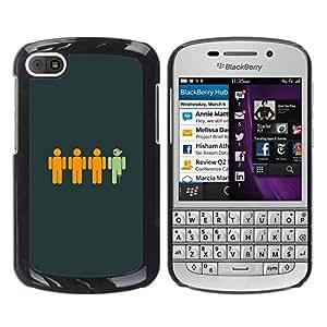 Caucho caso de Shell duro de la cubierta de accesorios de protección BY RAYDREAMMM - BlackBerry Q10 - Divertido pirata
