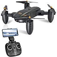 ScharkSpark Drohne Guard für Anfänger, Drohne mit Kamera für Live Videos, tragbarer RC Quadcopter mit 2 Batterien, 2.4 G 6-Achsen Kopflos-Modus Höhe-Halten 3D-Flips und Rollen Spielzeug