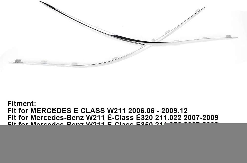 Vordere Kotfl/ügel Schienen Sto/ßstange Verkleidung linkes rechtes Paar Vordere Sto/ßstange Leiste Chrom Abdeckung 2118852321 2118852421 Passend f/ür W211 E Klasse A2118852321 A2118852421