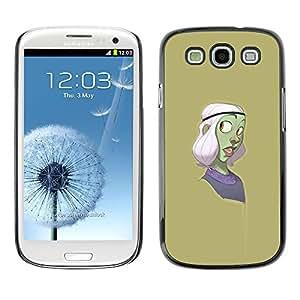 """For SAMSUNG Galaxy S3 III / i9300 / i747 Case , Personaje de dibujos animados verde púrpura"""" - Diseño Patrón Teléfono Caso Cubierta Case Bumper Duro Protección Case Cover Funda"""