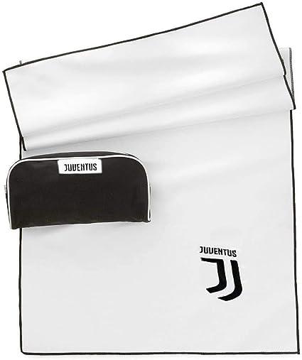 90x170 Juventus FC Telo in Microfibra Bianco//Nero