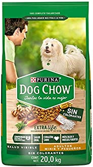 Dog Chow sin Colorantes con Extralife Adultos Minis y Pequeños 20kg, Pollo