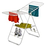 Honey-Can-Do Heavy Duty Gullwing Drying Rack, White, 4-wing
