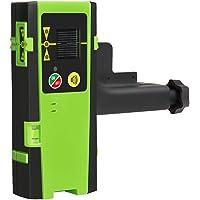 Huepar LR-6RG Détecteur Laser Pour Laser à Impulsions, Numérique Récepteur de Laser Vert et Rouge, Utiliser avec Lasers à Ligne Distance Jusqu'à 50-60m, Afficheurs LED à Trois Côtés
