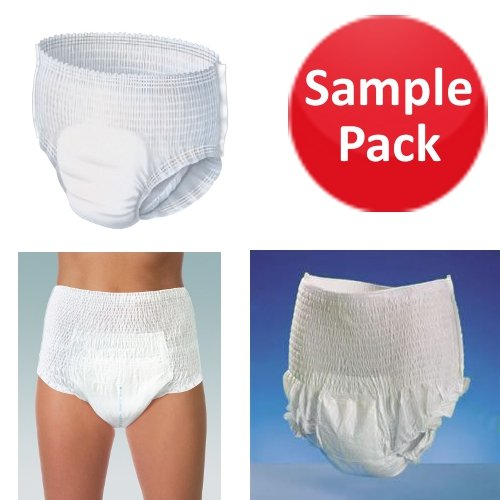 Amazon com: Pull Up Pant Sample Pack - Moderate Incontinence - X