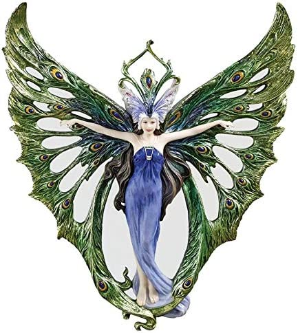 Design Toscano Winged Peacock Princess Wall Sculpture