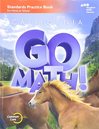 Houghton Mifflin Harcourt Go Math! California: Practice Workbook Grade 6