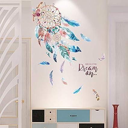 Coloré Dreamcatcher Plumes Stickers Muraux Pvc Matériel Diy ...