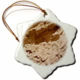 3dRose TDSwhite – Rock Photos - Layered Topography Rocks - 3 inch Snowflake Porcelain Ornament (orn_281894_1)