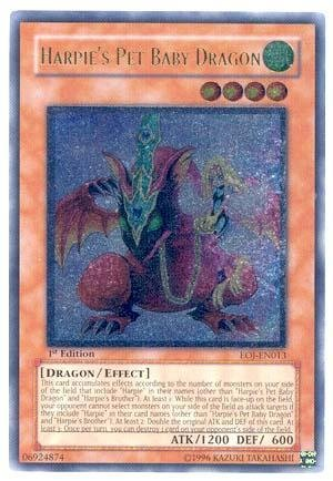 Yu-Gi-Oh! Harpie's Pet Baby Dragon (EOJ-EN013) - Enemy of Justice - 1st Edition - Ultimate Rare