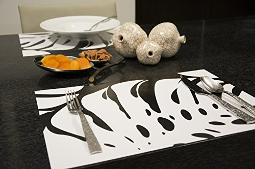 DecorDeTable 26 Count Tiger Paper Placemats for Dining Room, Kitchen Table, ZadehNY Design, 11.75