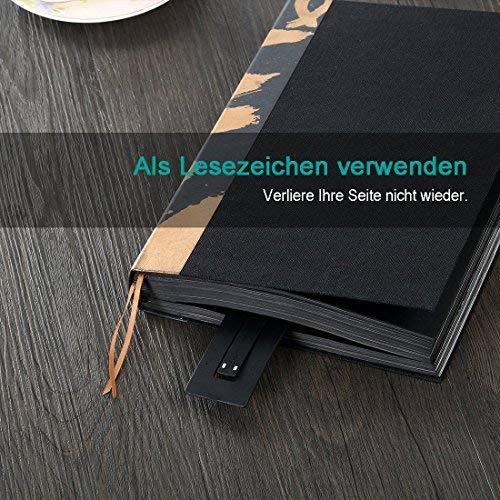 2 pacchi Ipad Kindle Opard Clip Light USB Ricaricabile Lampada Eye Care Doppia come segnalibro Flessibile con 4 livelli Dimmerabili per libro Ebook Lettura a letto