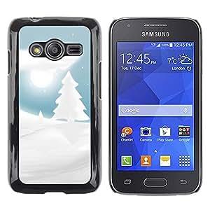 Caucho caso de Shell duro de la cubierta de accesorios de protección BY RAYDREAMMM - Samsung Galaxy Ace 4 G313 SM-G313F - Winter Snowy Christmas Forrest