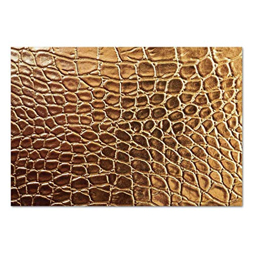 Crocodile Skin Wallpaper - iPrint Large Wall Mural Sticker [ Animal Print Decor,Tint Golden Crocodile Skin Nature Life Toughness High End Design Artwork,Gold ] Self-Adhesive Vinyl Wallpaper/Removable Modern Decorating Wall Art
