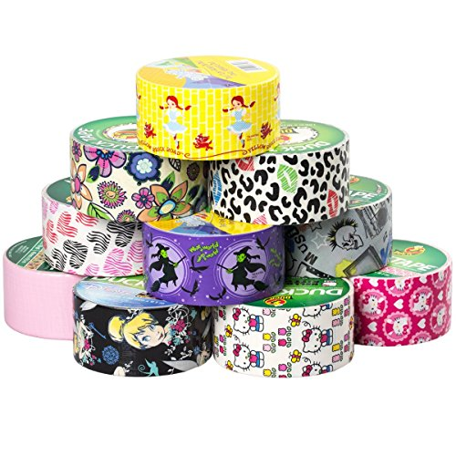 10 rolls printed duck brand duct tape bulk lotpatterns for Bulk arts and crafts