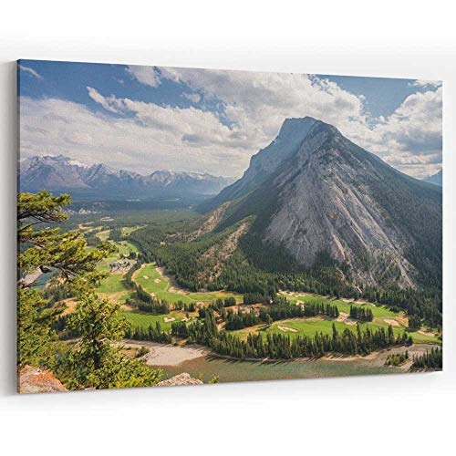 Actorstion Banff Fairmont Springs Hotel Golf Course Canvas Prints Wall Art,077015 18