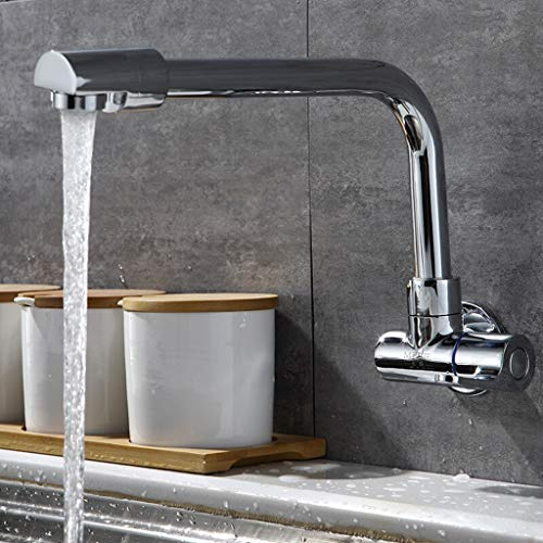 Yxx max Full Copper in-Wall Faucet Kitchen 360 Degree Rotating Single Cold Faucet by Yxx max (Image #5)