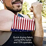 Phone Armband Sleeve: United States of America Flag Running Sports Arm Band Strap Holder Pouch Case for Workout Fits All Phones iPhone 8 X XR XS MAX Plus iPod Android Samsung Galaxy S8 S9 S10 USA SM