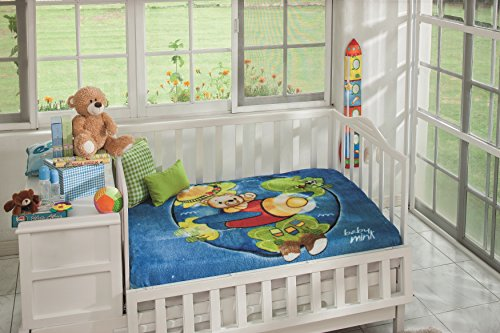 Jumbo Bassinet (Baby Mink Ultra Soft Plush Jumbo Fleece Blanket Outer Space Bear)