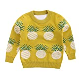 CSSD Winter Affordable Stylish Baby Boys Girls Kids Pineapple Sweaters Soft Warm Children's Sweater Coats (Yellow, 2T)