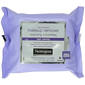 Neutrogena Makeup Remover Cleansing Towelettes & Wipes, Night Calming, 25 Count