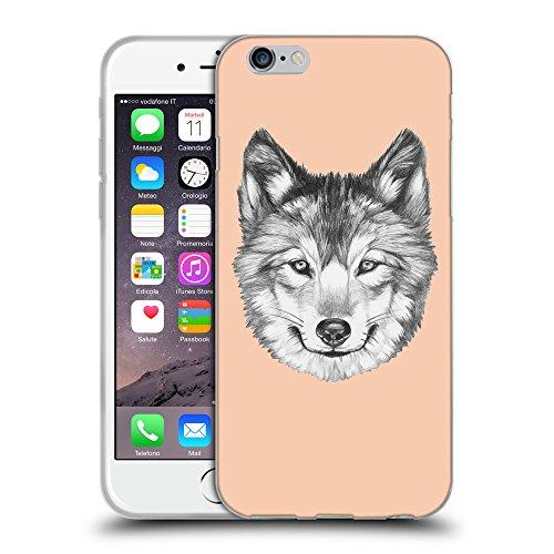 GoGoMobile Coque de Protection TPU Silicone Case pour // Q05430604 Portrait loup Abricot // Apple iPhone 7