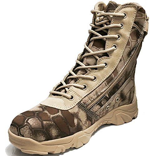 BE DREAMER Tactical Boots Men's 8 Inches Side Zip Combat Special Field Boots