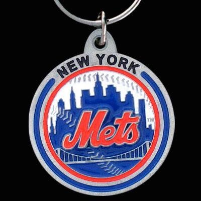 Zinc MLB Team Logo Key Ring - New York Mets - NY Mets (Lanyard New Mets York)