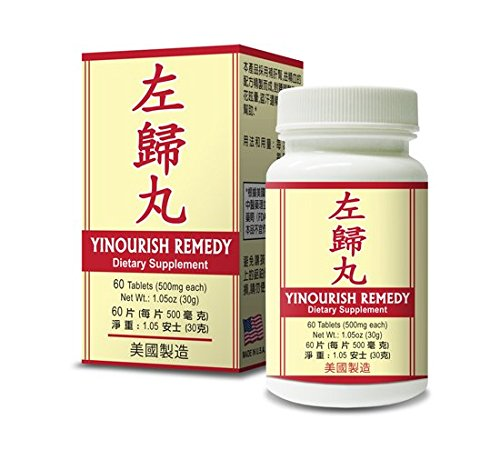 Yinourish Remedy Herbal Supplement Helps For Promote Liver & Kidney Functions Along With Strengthening Tendon & Bones 500mg 60 Tablets Made in USA