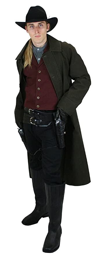 Victorian Men's Clothing  Mens Classic Cotton Canvas Duster $81.95 AT vintagedancer.com