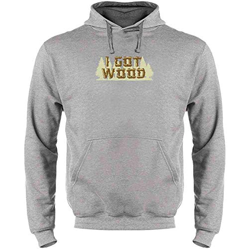 Pop Threads I Got Wood Halloween Costume Drinking Zombie Heather Gray XL Mens Fleece Hoodie Sweatshirt]()