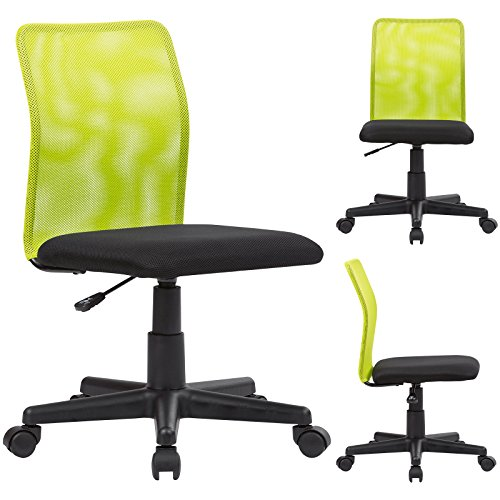 WOLTU® BS05gn-1 Mesh Fabric Desk Chair Home Office Chair with no Arms Low Back Desk Chair for Children Study Chair Computer Chair, Green