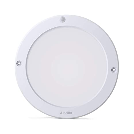 Lámpara de Techo LED con Sensor de Movimiento, de 18 W, de la Marca Albrillo, Daylight White (Motion Activated), 1