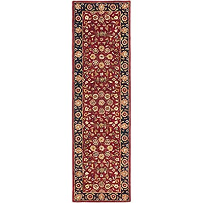 "Safavieh Heritage Collection HG966A Handcrafted Traditional Oriental Red and Navy Wool Runner (2'3"" x 6') -  - runner-rugs, entryway-furniture-decor, entryway-laundry-room - 51lqeiYpzzL. SS400  -"